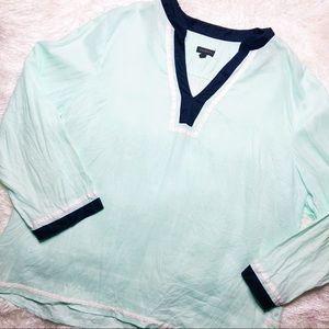 Talbots seafoam blue tunic